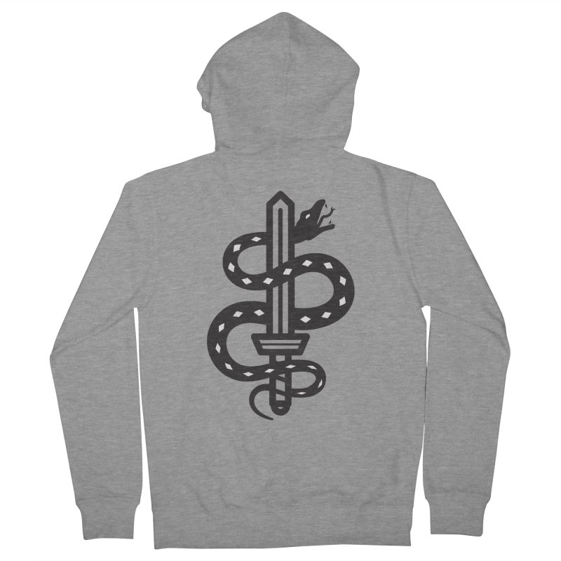 Snake and Dagger Men's Zip-Up Hoody by Paolo Geronimo's Artist Shop