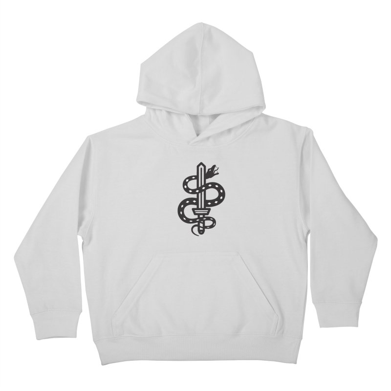 Snake and Dagger Kids Pullover Hoody by Paolo Geronimo's Artist Shop