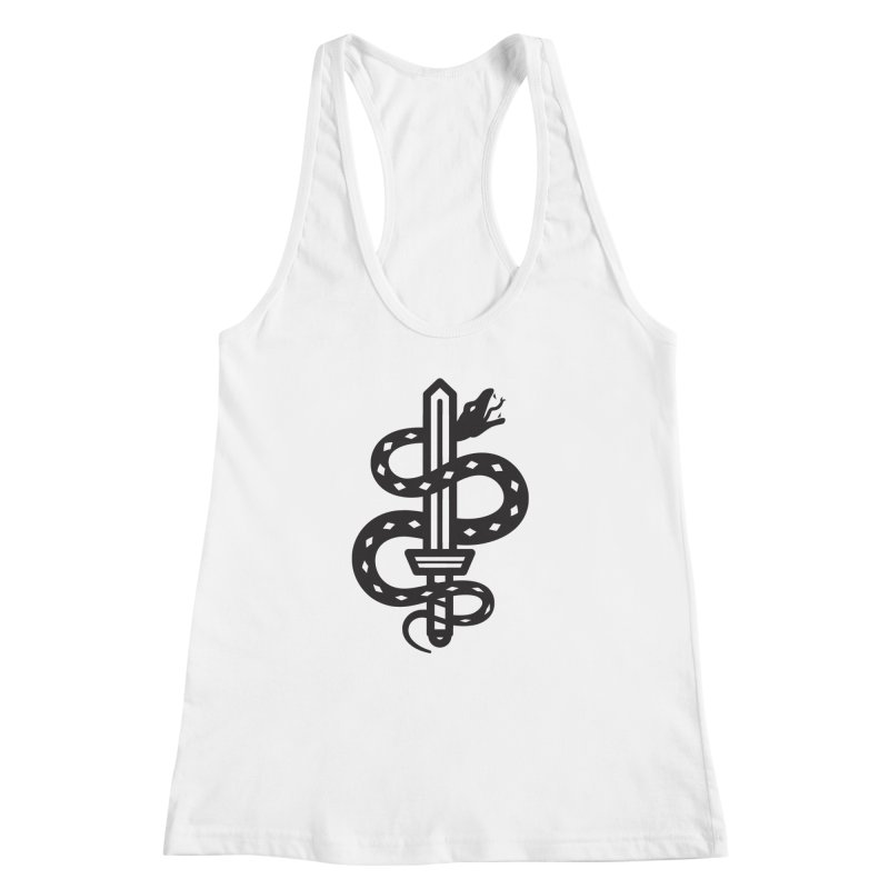 Snake and Dagger Women's Racerback Tank by Paolo Geronimo's Artist Shop