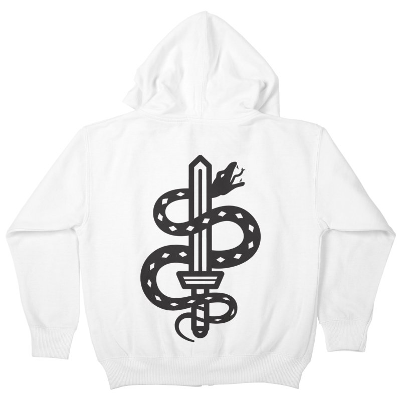 Snake and Dagger Kids Zip-Up Hoody by Paolo Geronimo's Artist Shop