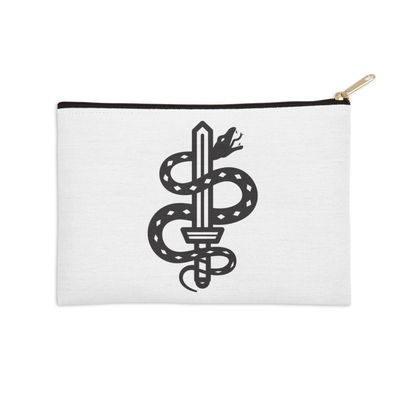 Snake and Dagger Accessories Zip Pouch by Paolo Geronimo's Artist Shop