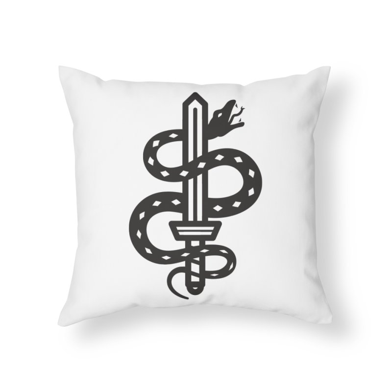 Snake and Dagger Home Throw Pillow by Paolo Geronimo's Artist Shop