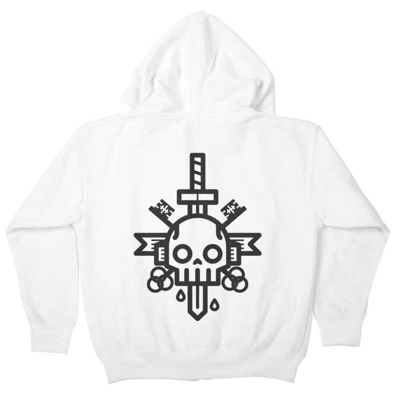Tongues like knives Kids Zip-Up Hoody by Paolo Geronimo's Artist Shop