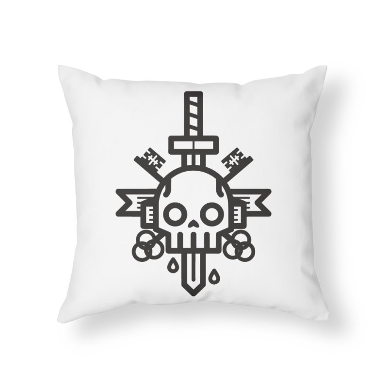 Tongues like knives Home Throw Pillow by Paolo Geronimo's Artist Shop
