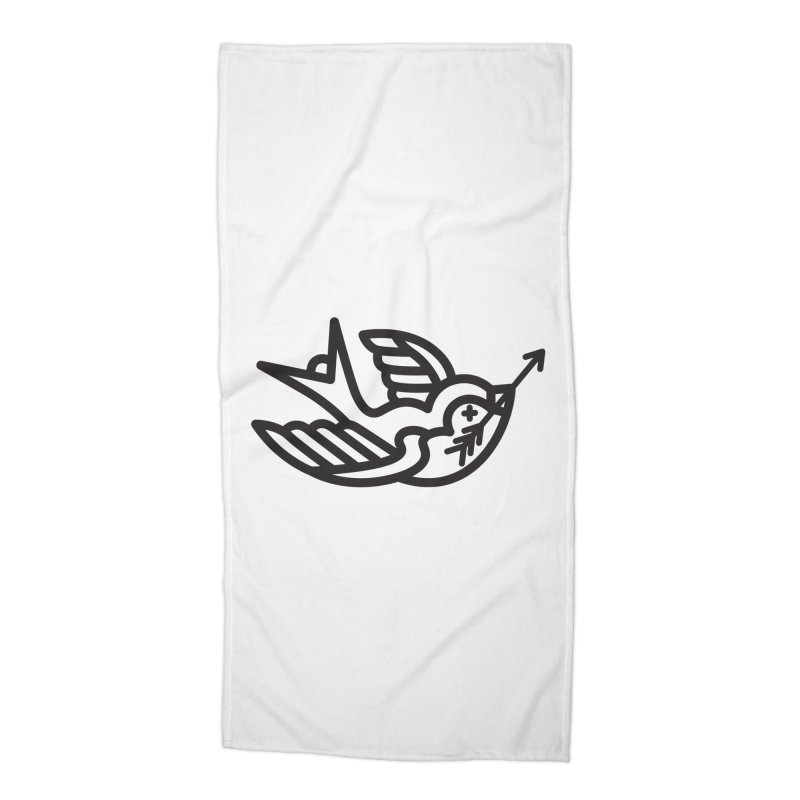Birdie Accessories Beach Towel by Paolo Geronimo's Artist Shop