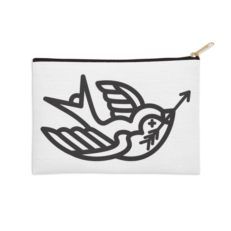 Birdie Accessories Zip Pouch by Paolo Geronimo's Artist Shop