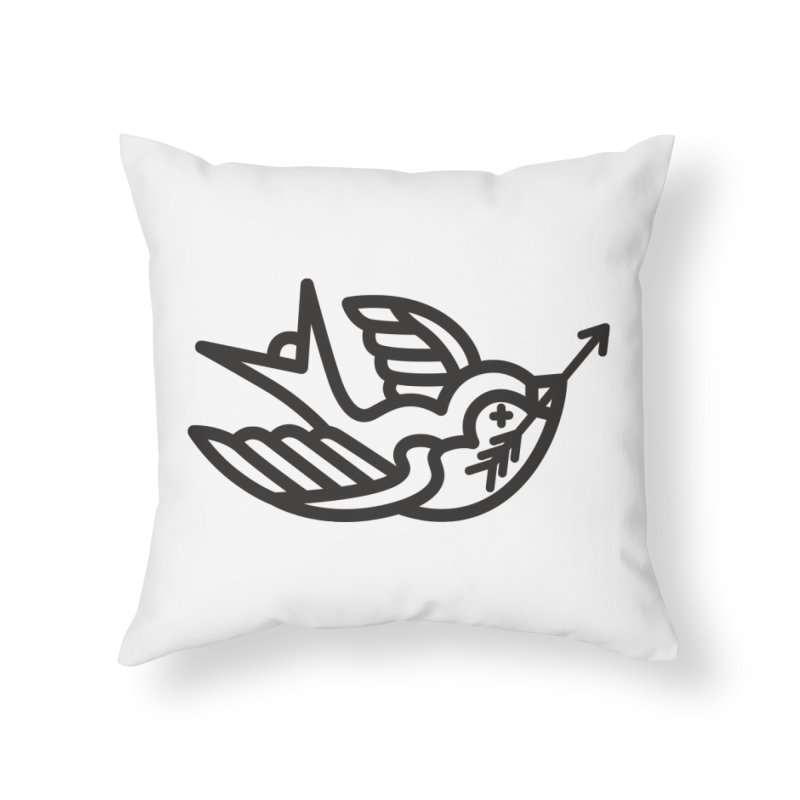 Birdie Home Throw Pillow by Paolo Geronimo's Artist Shop
