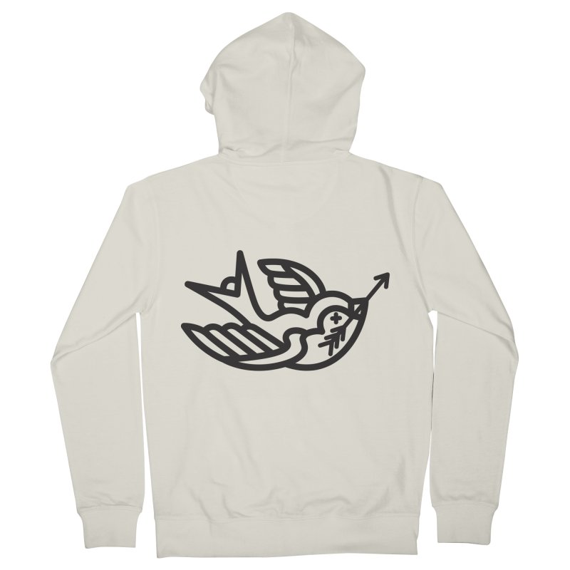 Birdie Men's Zip-Up Hoody by Paolo Geronimo's Artist Shop
