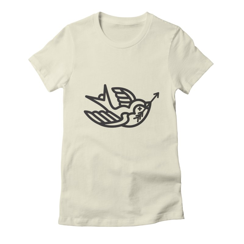 Birdie Women's Fitted T-Shirt by Paolo Geronimo's Artist Shop