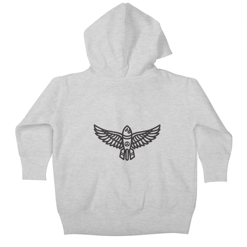 Drop Names not Bombs Kids Baby Zip-Up Hoody by Paolo Geronimo's Artist Shop