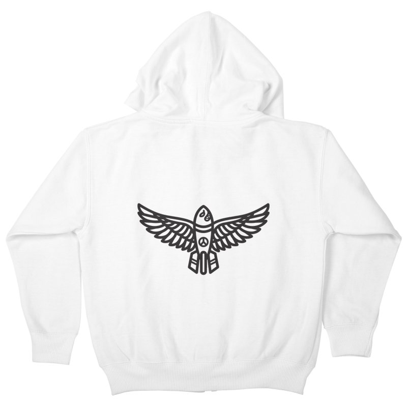 Drop Names not Bombs Kids Zip-Up Hoody by Paolo Geronimo's Artist Shop