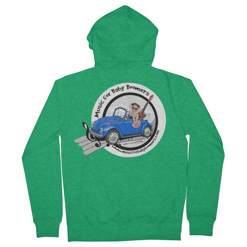 Music for Baby Boomers VW Women's Zip-Up Hoody by PapaGreyBeard's Merchandise