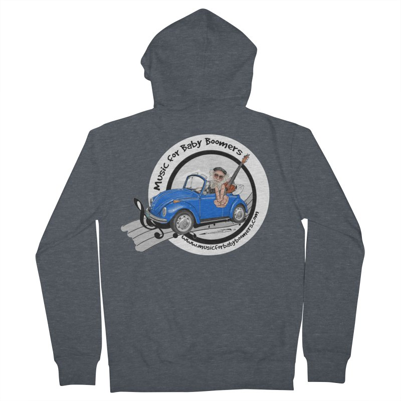 Music for Baby Boomers VW Men's Zip-Up Hoody by PapaGreyBeard's Merchandise