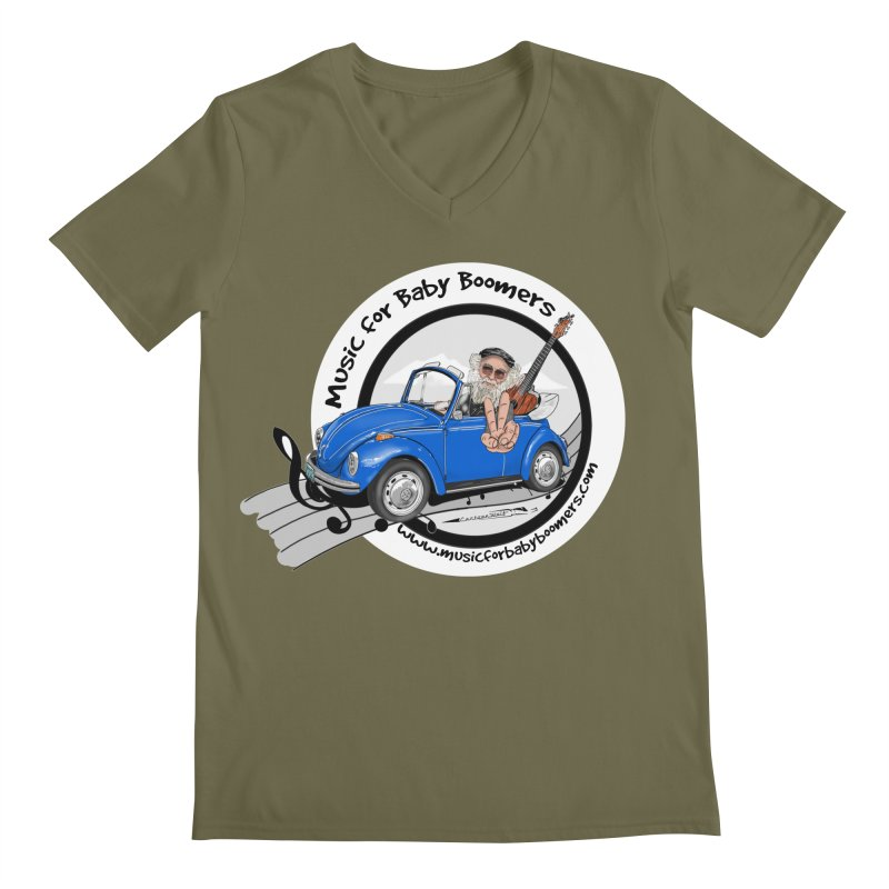 Music for Baby Boomers VW Men's V-Neck by PapaGreyBeard's Merchandise
