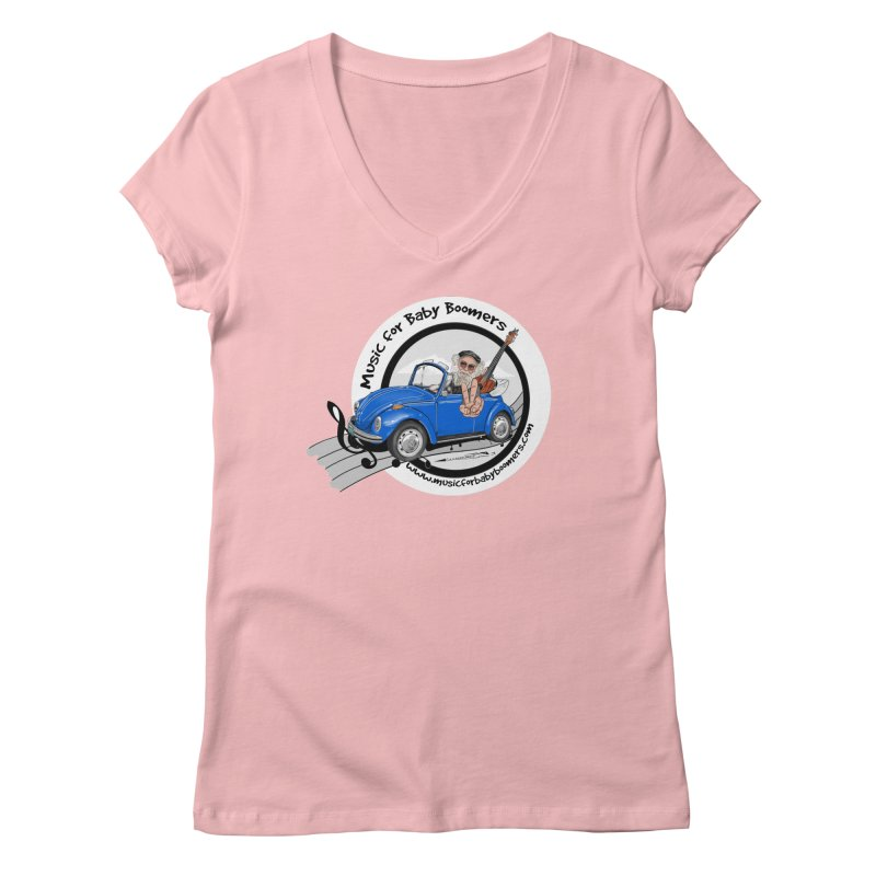 Music for Baby Boomers VW Women's V-Neck by PapaGreyBeard's Merchandise