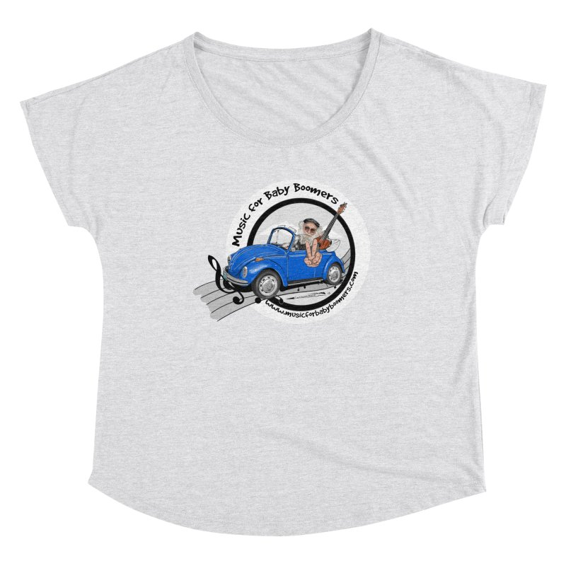 Music for Baby Boomers VW Women's Scoop Neck by PapaGreyBeard's Merchandise