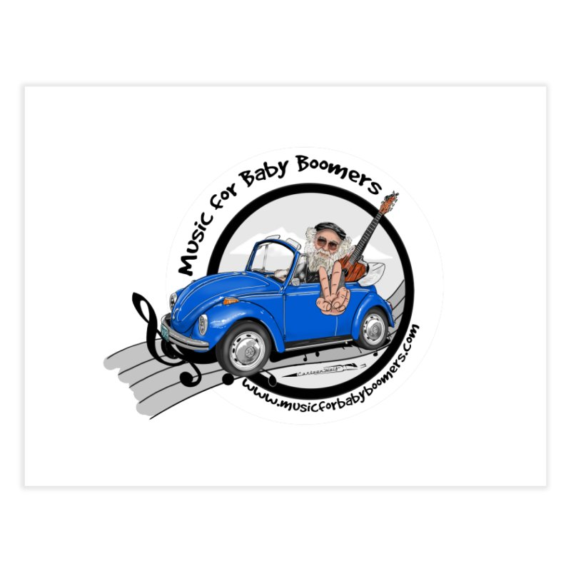 Music for Baby Boomers VW Home Fine Art Print by PapaGreyBeard's Merchandise