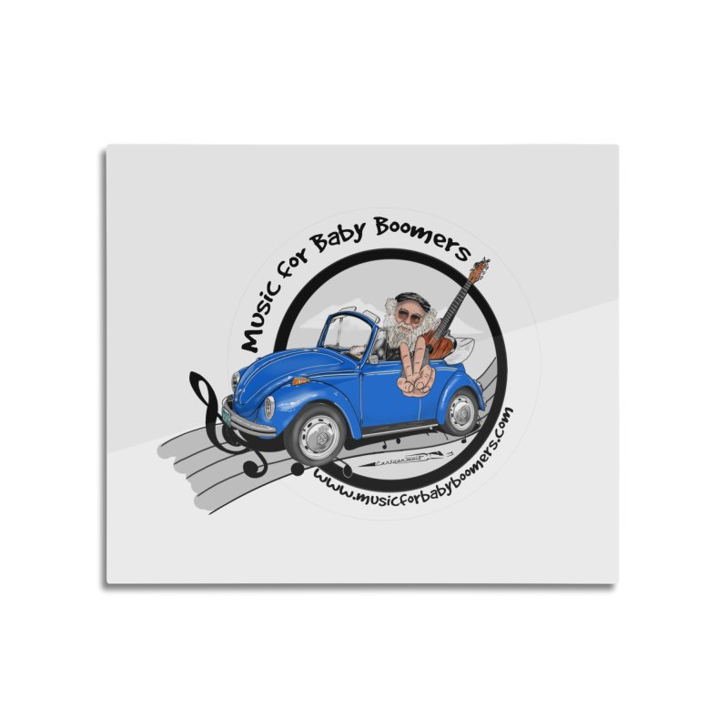 Music for Baby Boomers VW Home Mounted Aluminum Print by PapaGreyBeard's Merchandise
