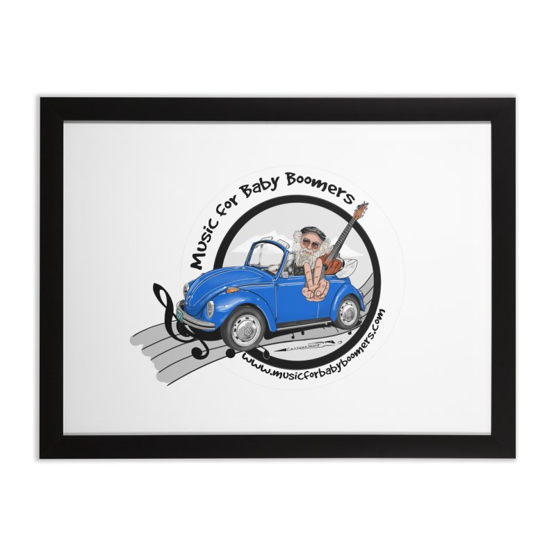 Music for Baby Boomers VW Home Framed Fine Art Print by PapaGreyBeard's Merchandise