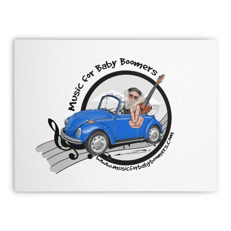 Music for Baby Boomers VW Home Stretched Canvas by PapaGreyBeard's Merchandise