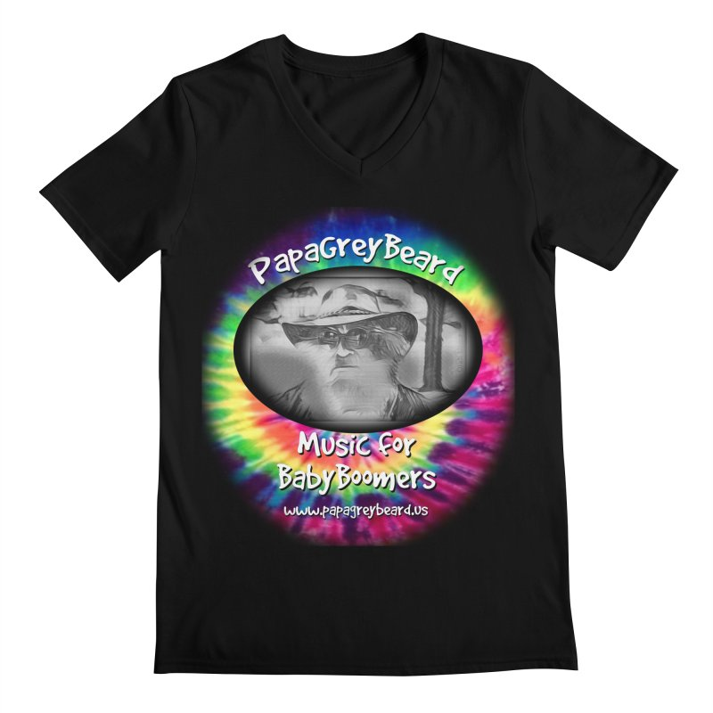 PapaGreyBeard Men's Regular V-Neck by PapaGreyBeard's Merchandise