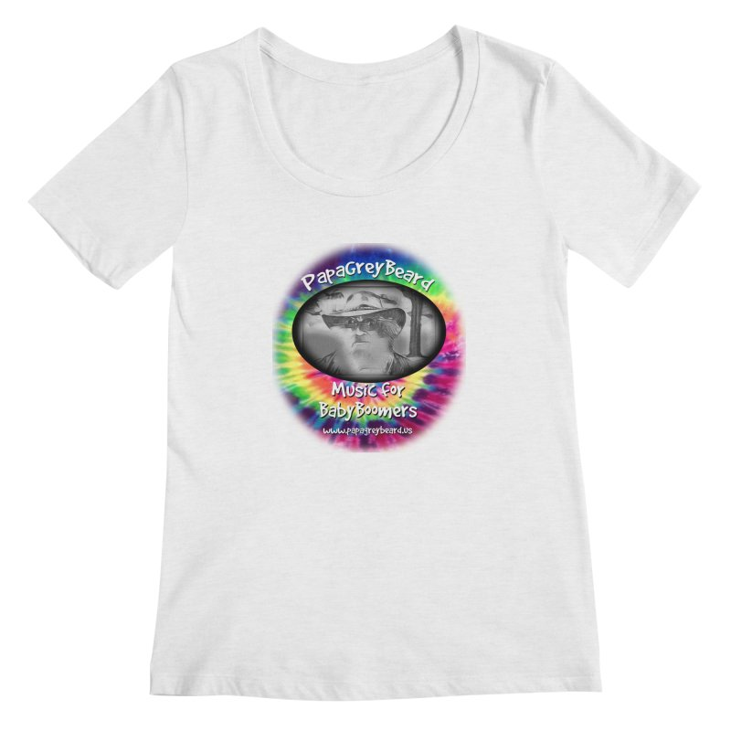 PapaGreyBeard Women's Regular Scoop Neck by PapaGreyBeard's Merchandise
