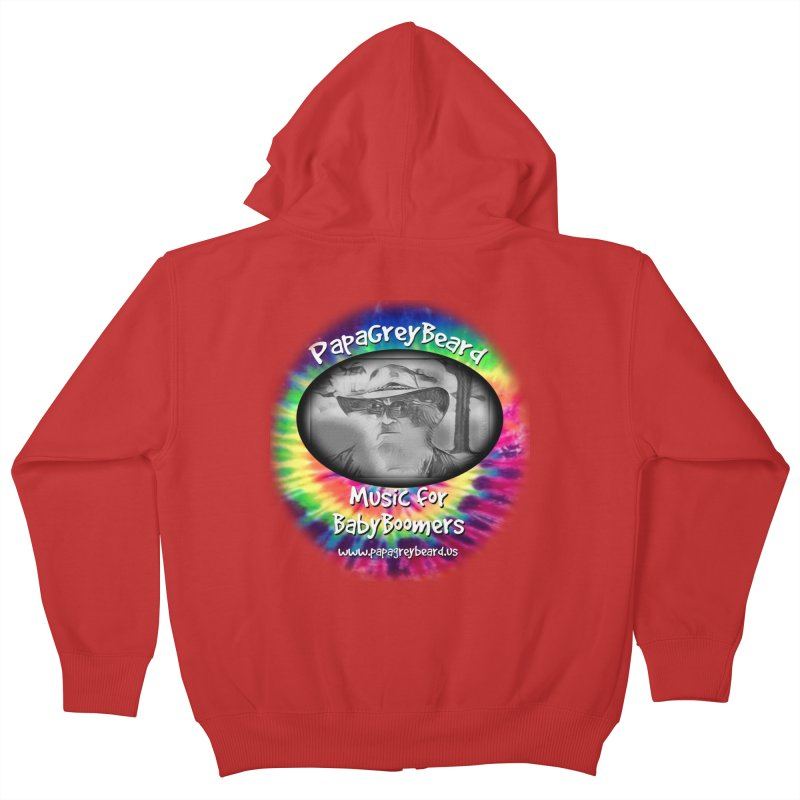 MusicForBabyBoomers Kids Zip-Up Hoody by PapaGreyBeard's Merchandise