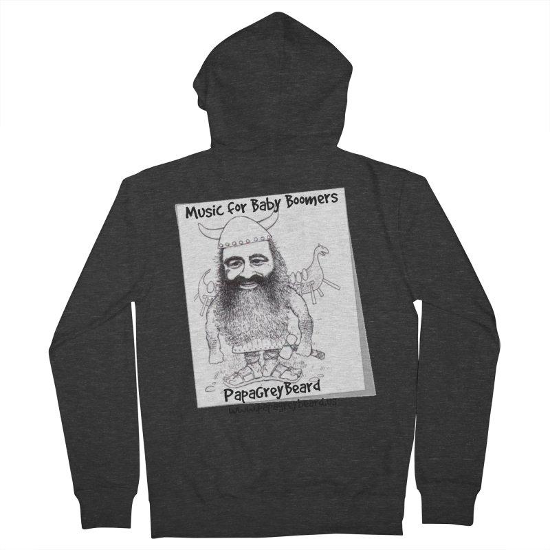 Viking Men's Zip-Up Hoody by PapaGreyBeard's Merchandise