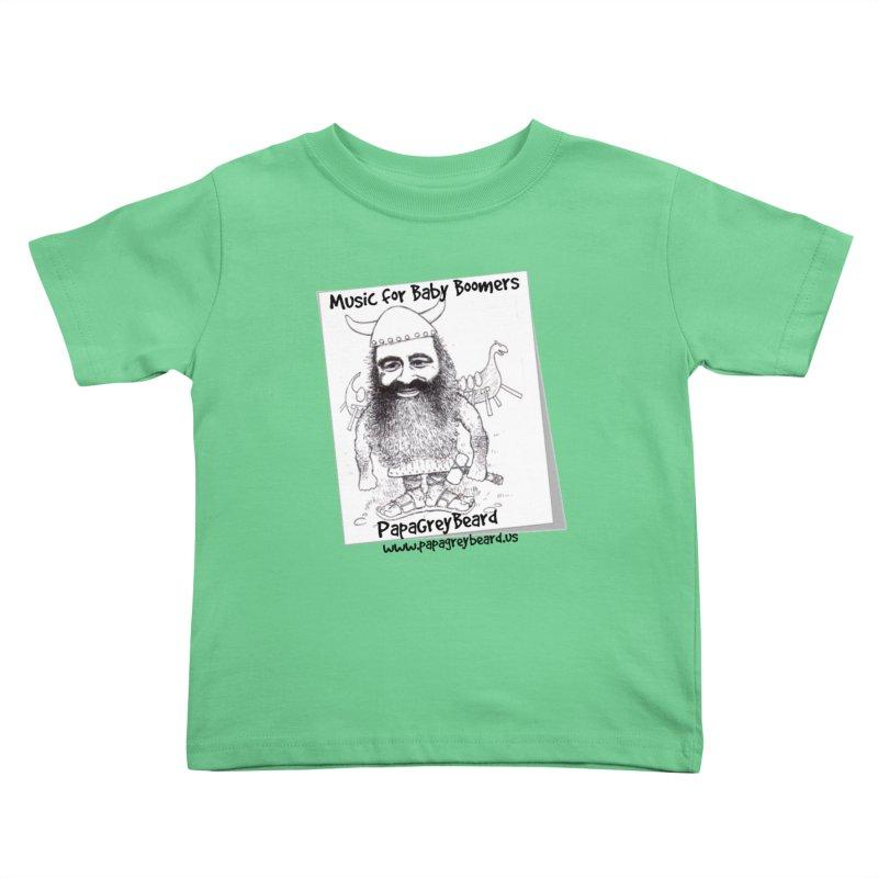Viking Kids Toddler T-Shirt by PapaGreyBeard's Merchandise