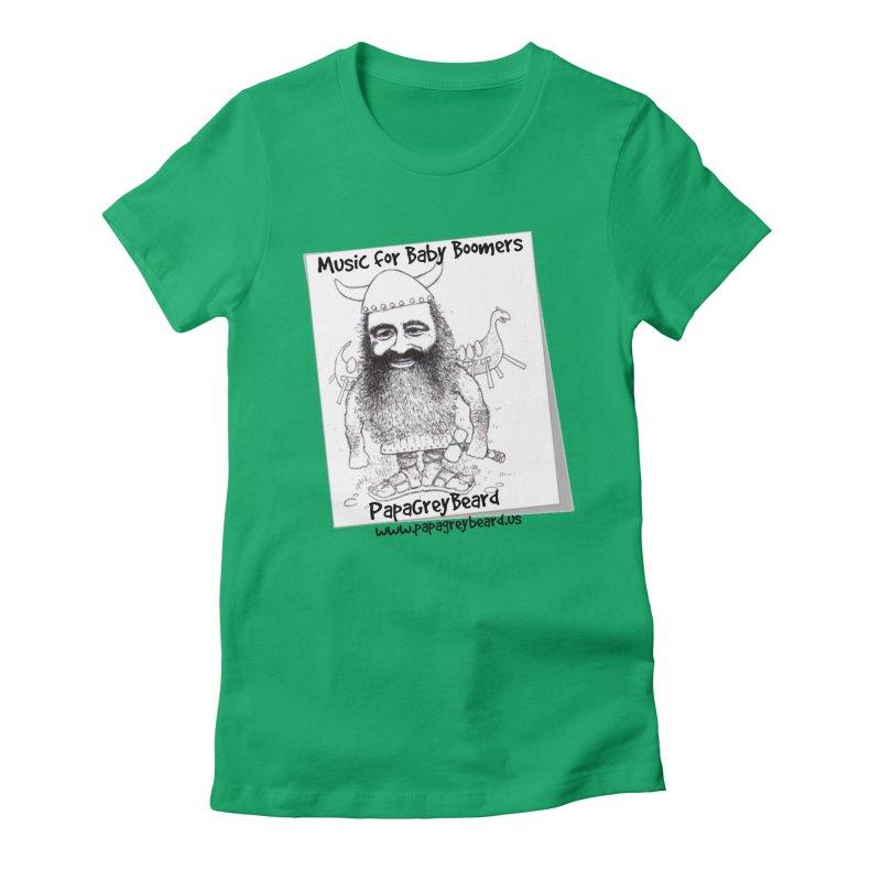 Viking Women's Fitted T-Shirt by PapaGreyBeard's Merchandise