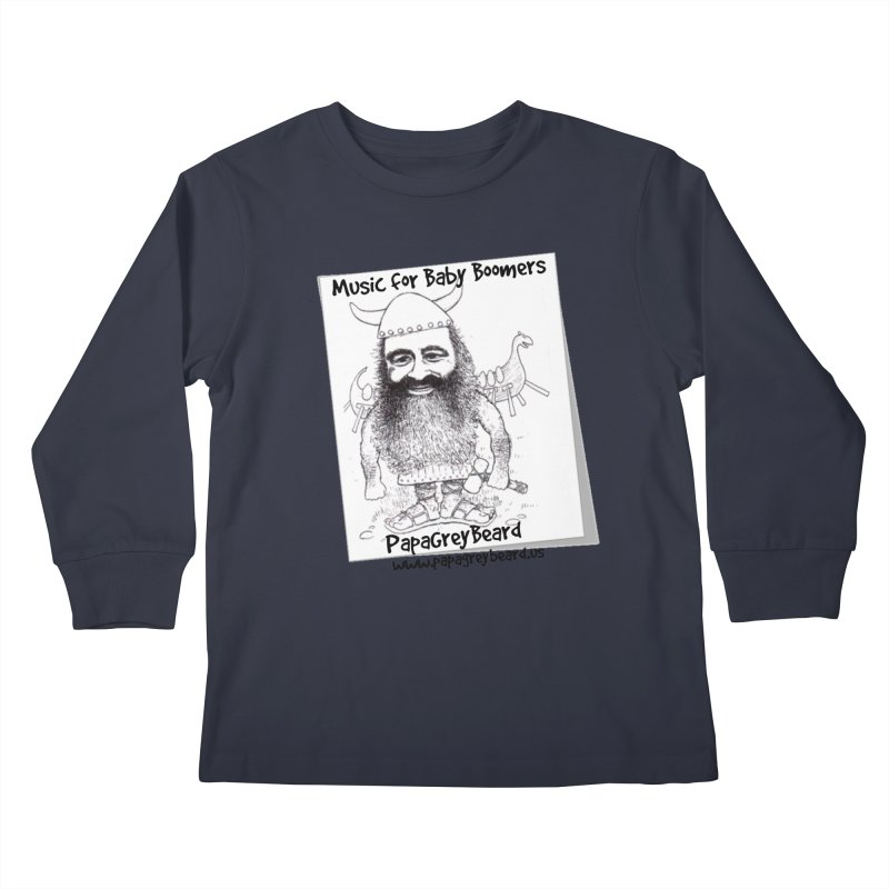 Viking Kids Longsleeve T-Shirt by PapaGreyBeard's Merchandise