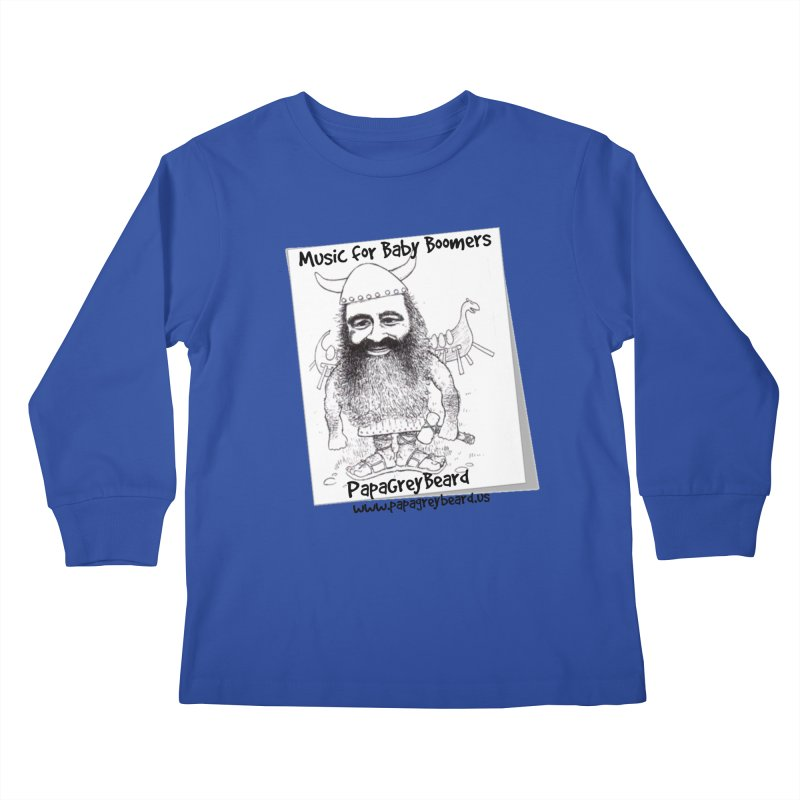 Viking Kids Longsleeve T-Shirt by PapaGreyBeard's Merchandise