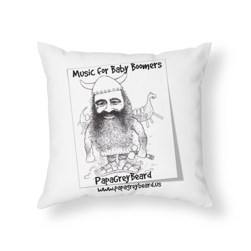 Viking Home Throw Pillow by PapaGreyBeard's Merchandise