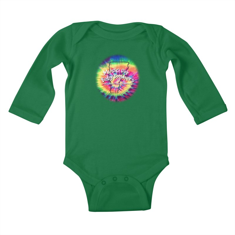 MusicForBabyBoomers-Vermont Kids Baby Longsleeve Bodysuit by PapaGreyBeard's Merchandise
