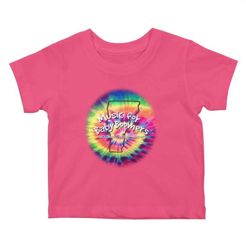 MusicForBabyBoomers-Vermont Kids Baby T-Shirt by PapaGreyBeard's Merchandise