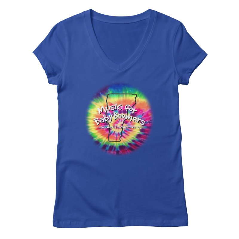 MusicForBabyBoomers-Vermont Women's V-Neck by PapaGreyBeard's Merchandise