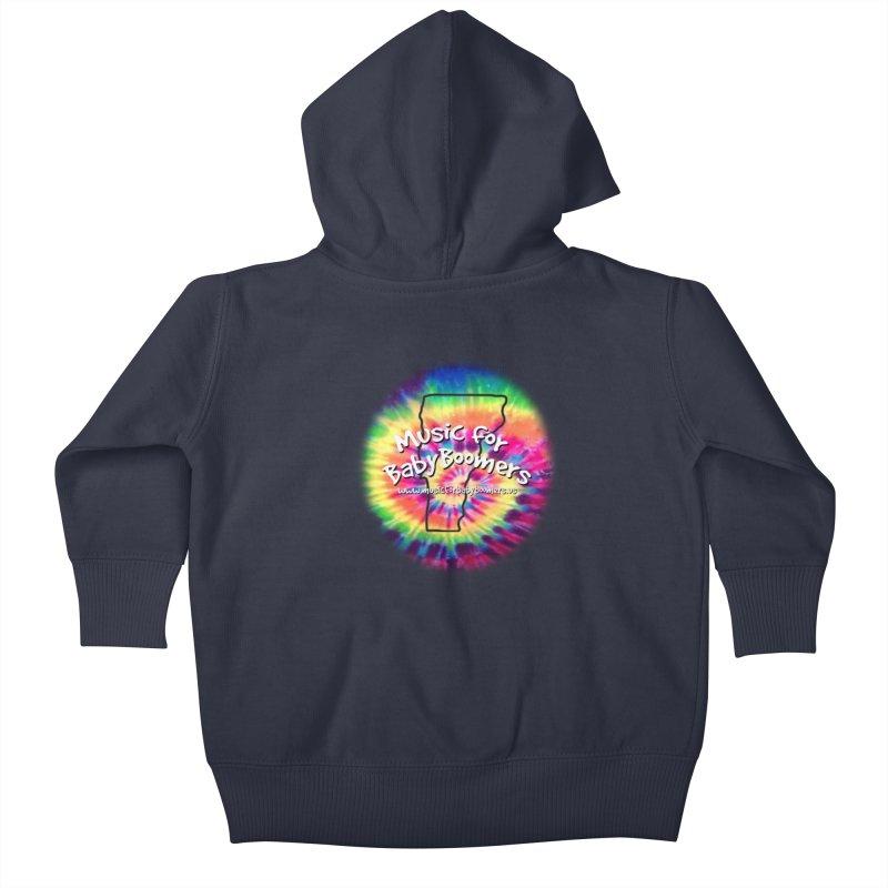 MusicForBabyBoomers-Vermont Kids Baby Zip-Up Hoody by PapaGreyBeard's Merchandise