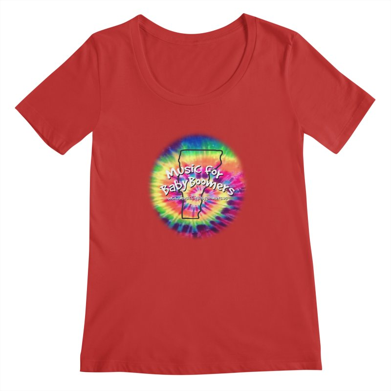 MusicForBabyBoomers-Vermont Women's Regular Scoop Neck by PapaGreyBeard's Merchandise