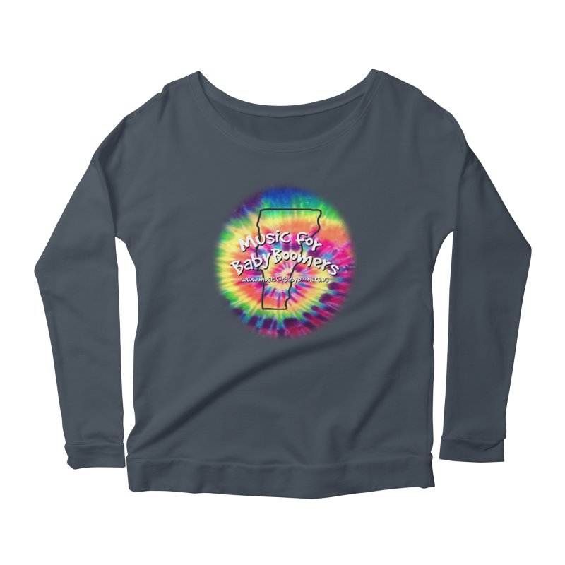 MusicForBabyBoomers-Vermont Women's Scoop Neck Longsleeve T-Shirt by PapaGreyBeard's Merchandise
