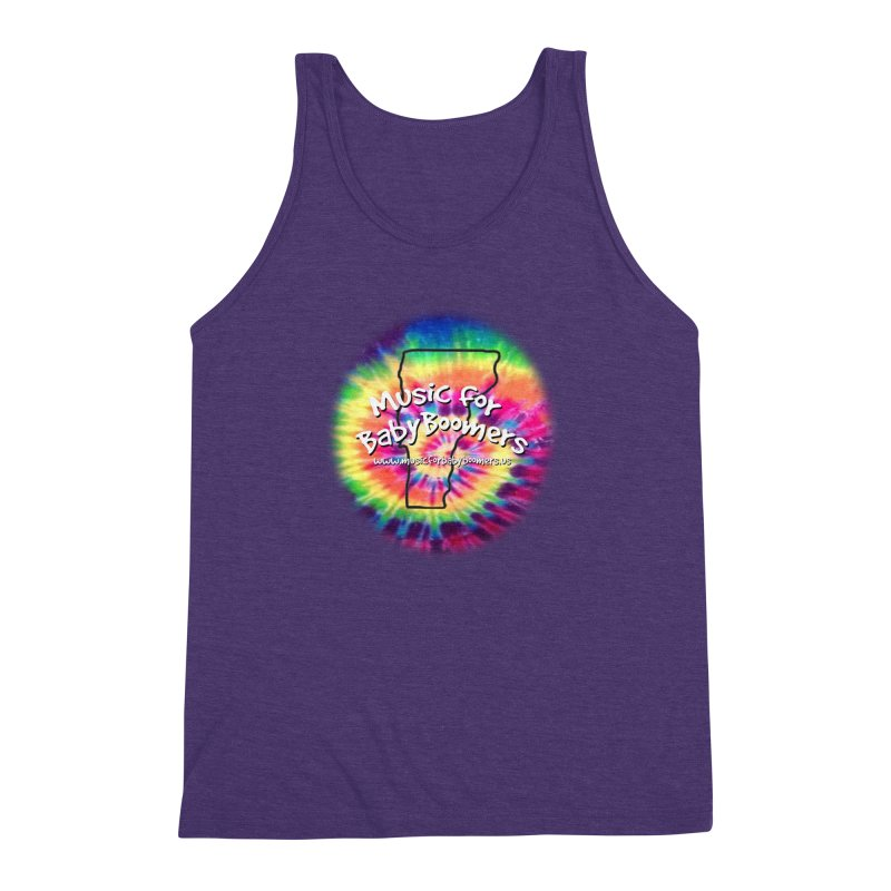 MusicForBabyBoomers-Vermont Men's Triblend Tank by PapaGreyBeard's Merchandise