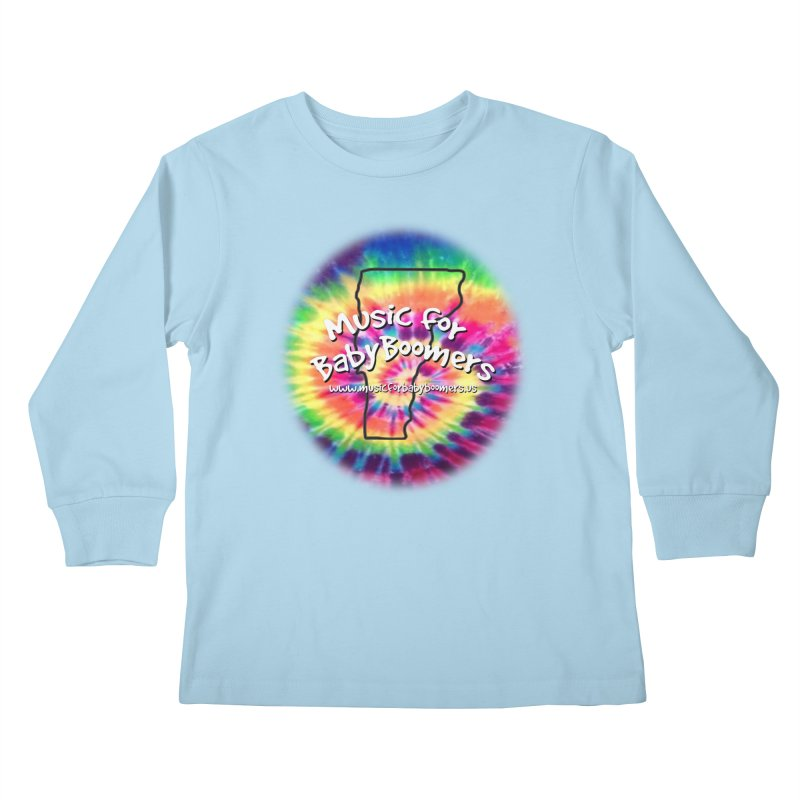 MusicForBabyBoomers-Vermont Kids Longsleeve T-Shirt by PapaGreyBeard's Merchandise