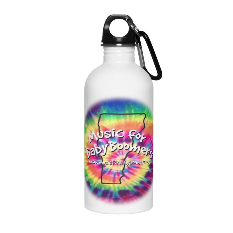 MusicForBabyBoomers-Vermont Accessories Water Bottle by PapaGreyBeard's Merchandise