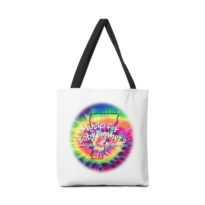MusicForBabyBoomers-Vermont Accessories Tote Bag Bag by PapaGreyBeard's Merchandise