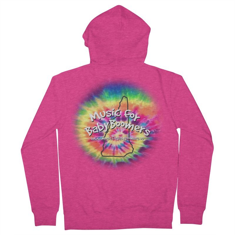 MusicForBabyBoomers-New Hampshire Women's French Terry Zip-Up Hoody by PapaGreyBeard's Merchandise