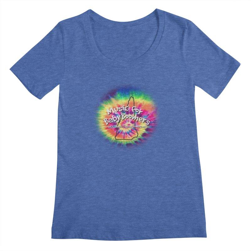 MusicForBabyBoomers-New Hampshire Women's Regular Scoop Neck by PapaGreyBeard's Merchandise