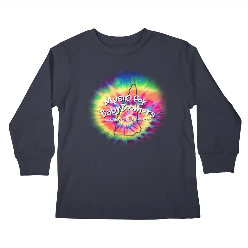 MusicForBabyBoomers-New Hampshire Kids Longsleeve T-Shirt by PapaGreyBeard's Merchandise