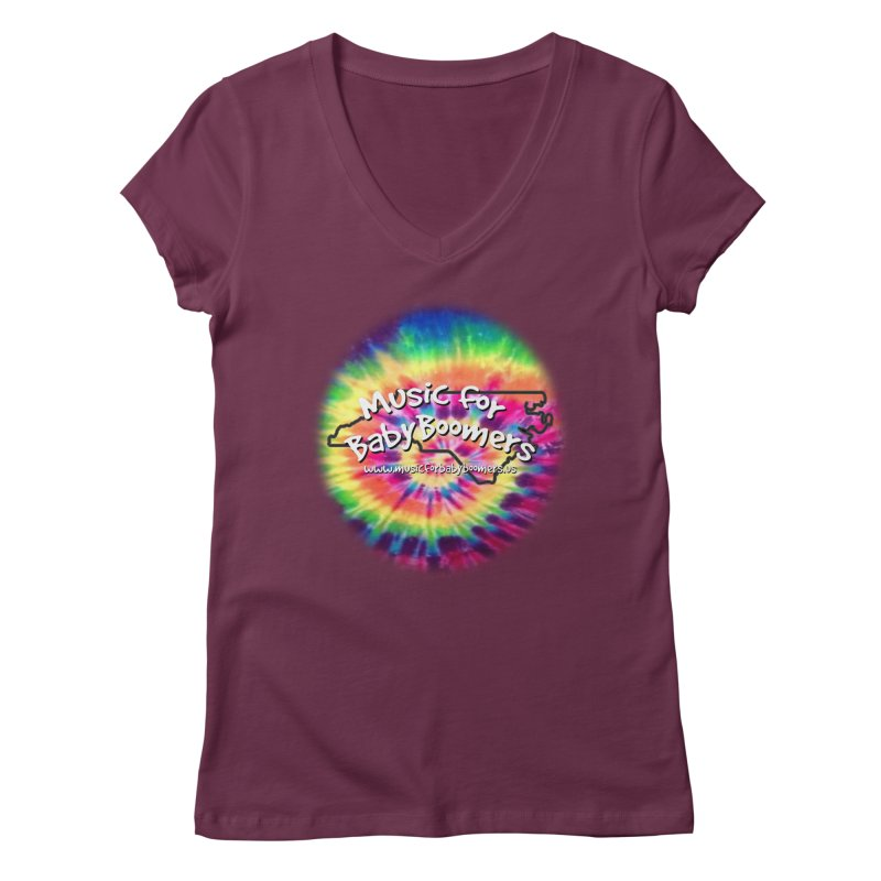 MusicForBabyBoomers-North Carolina Women's V-Neck by PapaGreyBeard's Merchandise