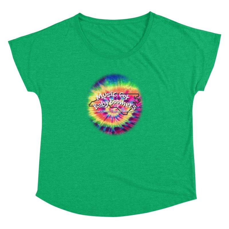 MusicForBabyBoomers-North Carolina Women's Dolman Scoop Neck by PapaGreyBeard's Merchandise