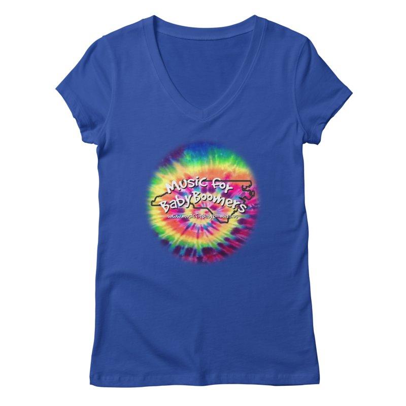 MusicForBabyBoomers-North Carolina Women's Regular V-Neck by PapaGreyBeard's Merchandise
