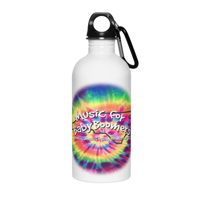 MusicForBabyBoomers-North Carolina Accessories Water Bottle by PapaGreyBeard's Merchandise